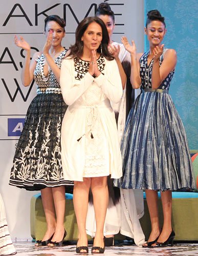 Hot on the ramp: Anita Dongre's seductive nymphs