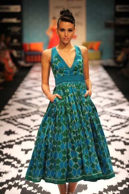 A model presents an Anita Dongre creation