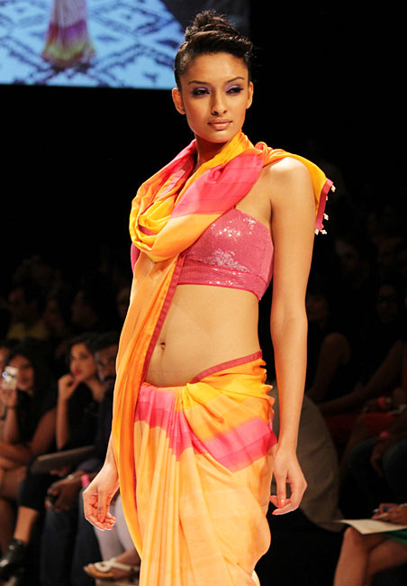 A model presents Anita Dongre's creation