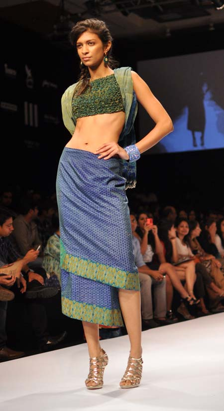 IN PICS: Sexy models in ethereal Indian textiles