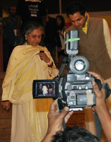 Jaya Bachchan with Siddharth Dhanvant Sanghvi