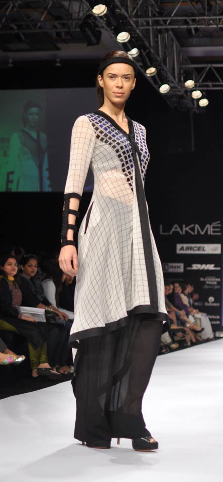 Sucheta Sharma in a Nupur Kanoi creation