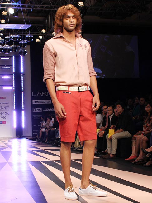 Nibu Joseph models a Narendra Kumar creation