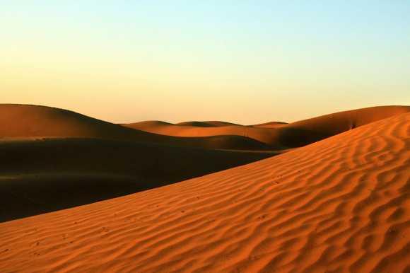 The Thar desert in Rajasthan