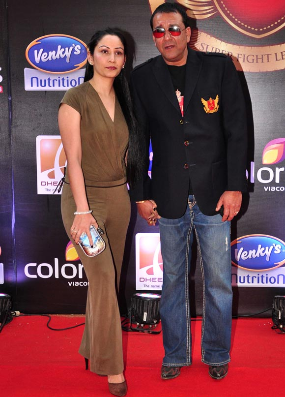 Maanyata and Sanjay Dutt