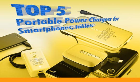 Top 5: Portable power chargers for smartphones, tablets