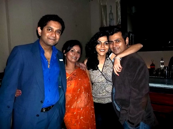 (from L-R) Prashant, Varsha, Dali and Abhishek. Varsha and Abhishek who started footloose also met their partners Prashant and Dali there