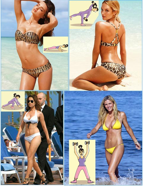 IMAGES: How to get swimsuit-sexy this summer!