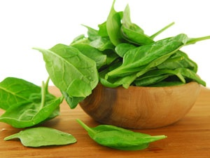 Green vegetables like spinach are great for Vitamin K