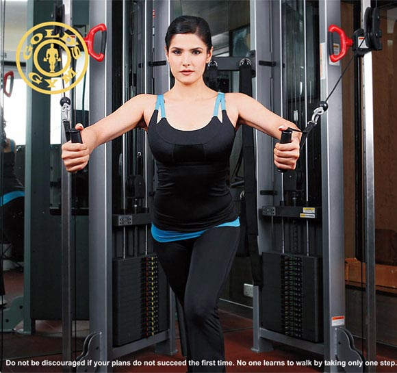 Zarine Khan hits the gym. Nothing should stop you either...