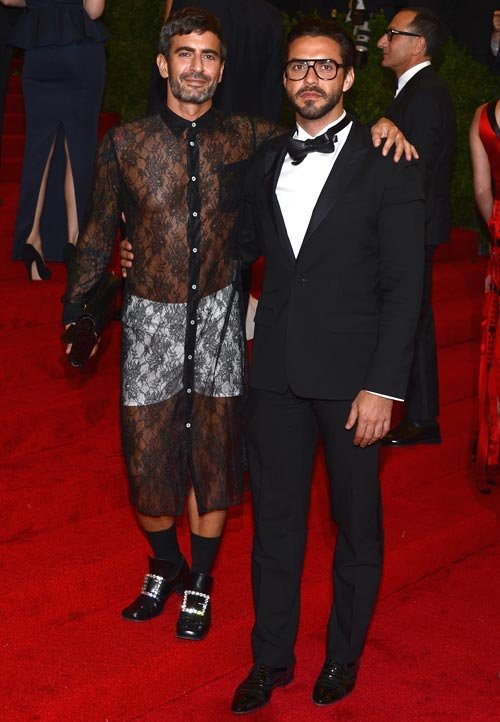 Marc Jacobs (left) with Lorenzo Martone