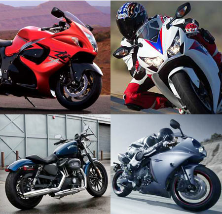 A collage of some fo the top 10 superbikes featured in this article