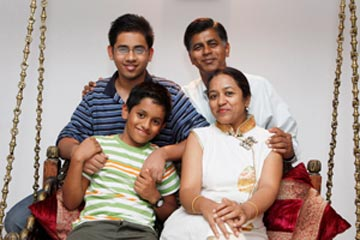 Rohan with his family