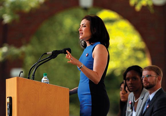 Facebook COO Sheryl Sandberg at the Harvard Business School.