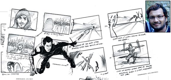 Storyboard illustrations made by Atul; Inset: Atul Chouthmal
