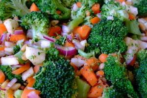 Broccoli, Radish and Pine Nuts Salad