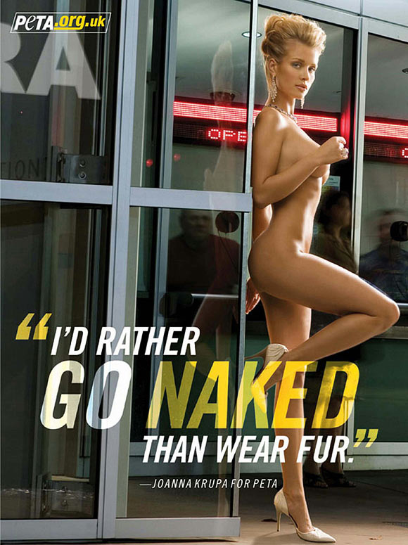 Joanna Krupa for another of PETA's nude campaigns