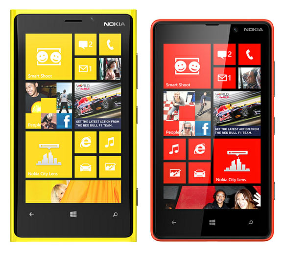 Nokia Lumia 920 amd 820