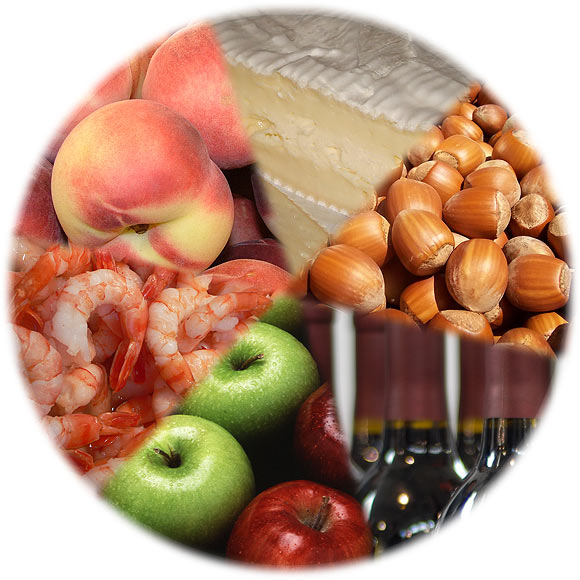 Common food allergies include those caused by milk products like cheese, shellfish, nuts, wine and certain fruit