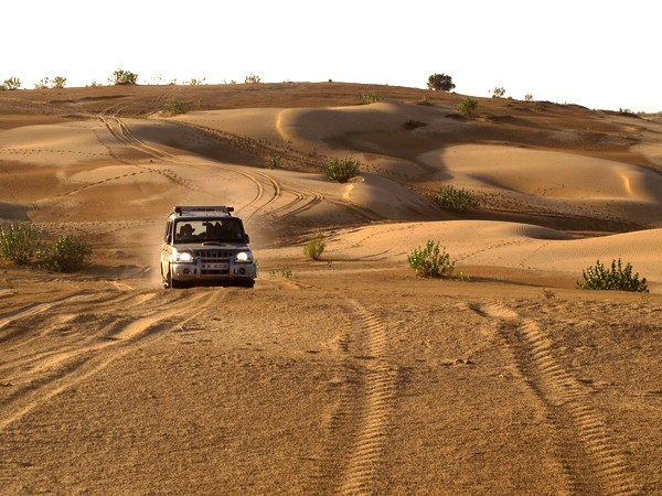 Bashing the last of the dunes before we head home to a warm bath