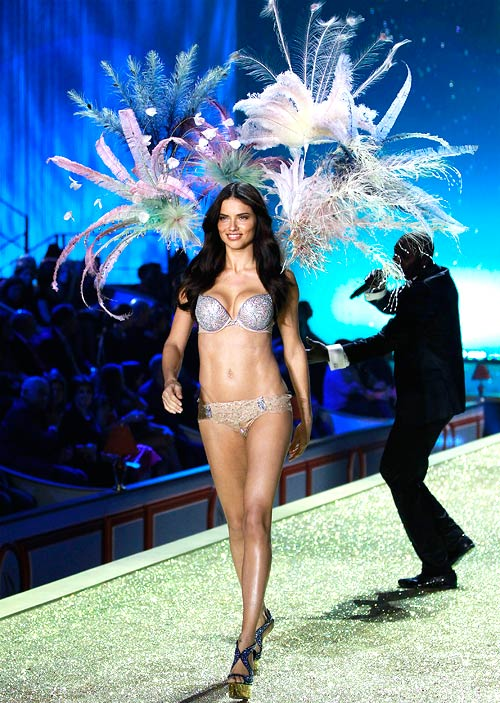Adriana Lima in the Bombshell Fantasy Bra by Victoria's Secret
