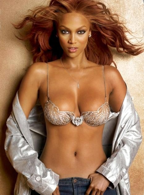 Tyra Banks in the Heavenly 70 Fantasy Bra by Victoria's Secret