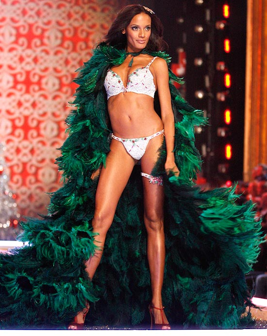 Selita Ebanks in the Holiday Fantasy Bra by Victoria's Secret