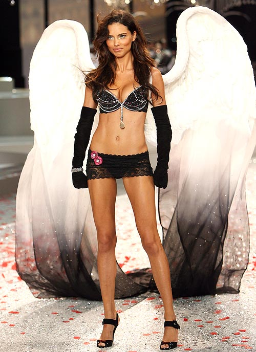 Adriana Lima in the Black Diamond Fantasy Miracle Bra by Victoria's Secret
