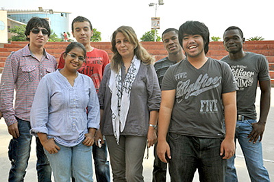 Foreign students at Manav Rachna International university