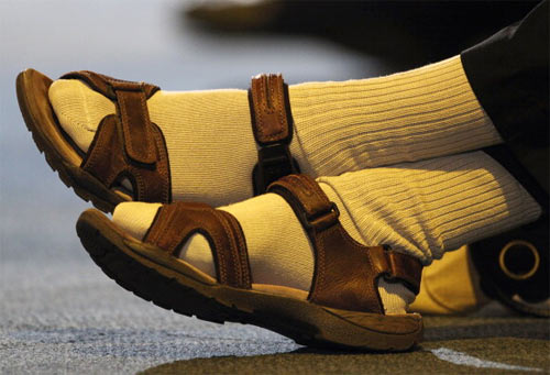Socks on sandals? Think again