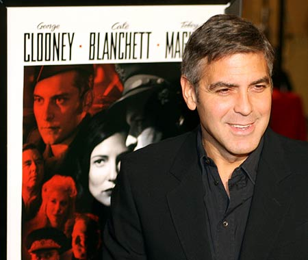 Why would you want to dye when you can gray gracefully like Mr Clooney here?