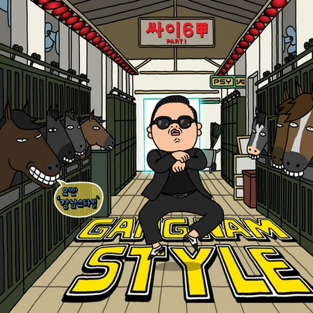 Cover of Psy's overnight hit single Gangnam Style