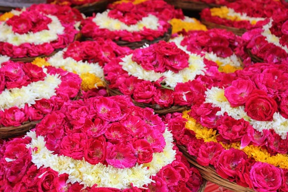 The flowers for offering at Ajmer Sharif