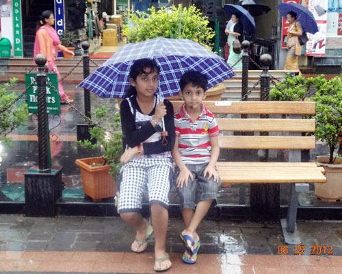 Reader Jitender Chugh's children Neel and Yashica in Gangtok