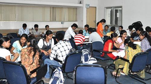 Group discussions help in enhancing team spirit among students.