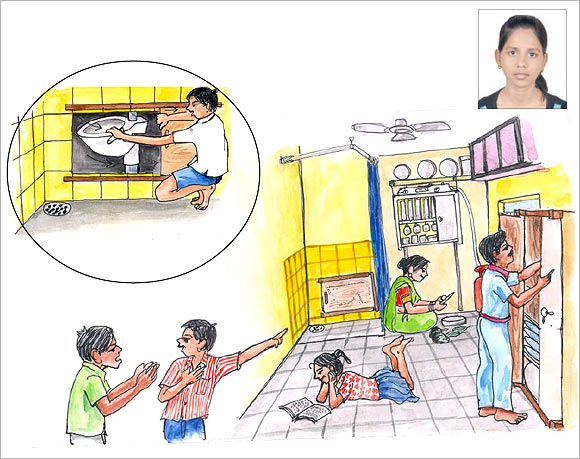 An artist's impression of the pot by Shweta Verma (inset)