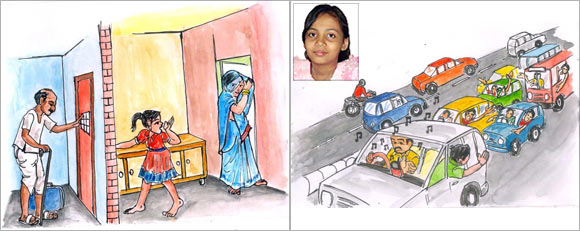 An artist's impression of the innovations by Rajashree (inset).