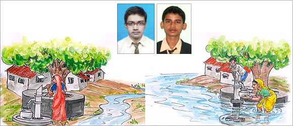 An artist's impression of the innovation by Kripesh Swain and Kumar Biswajeet (inset)