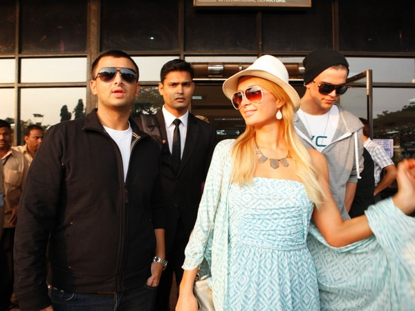 Paris Hilton arrived in Goa with her boyfriend, Spanish model River Viiperi