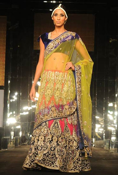 If you're petite, short cholis are perfect -- and lehengas should also have seemingly less flare