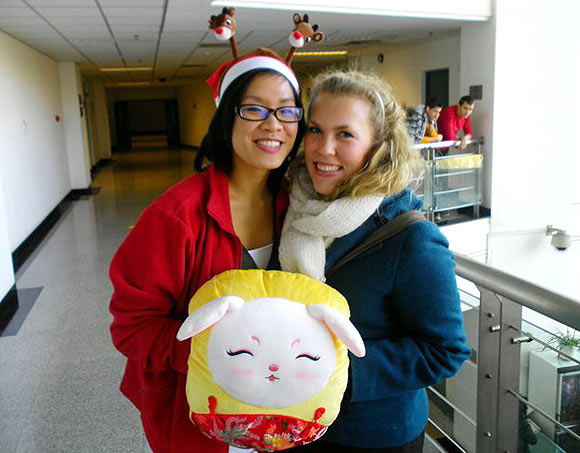 Megan Lee (right) says that the friends she made on campus are here to stay.