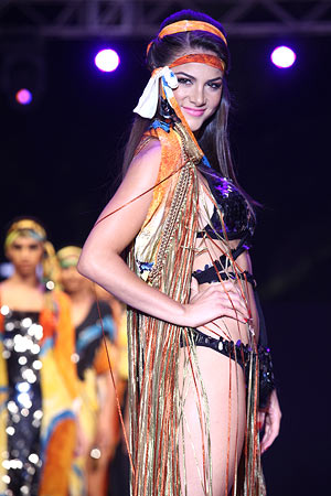 Nicole Huber in a Pria Kataria Puri creation