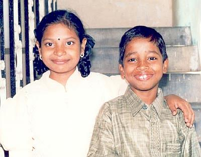 Ravi with Krishnaveni when they were kids at CHES Ashram