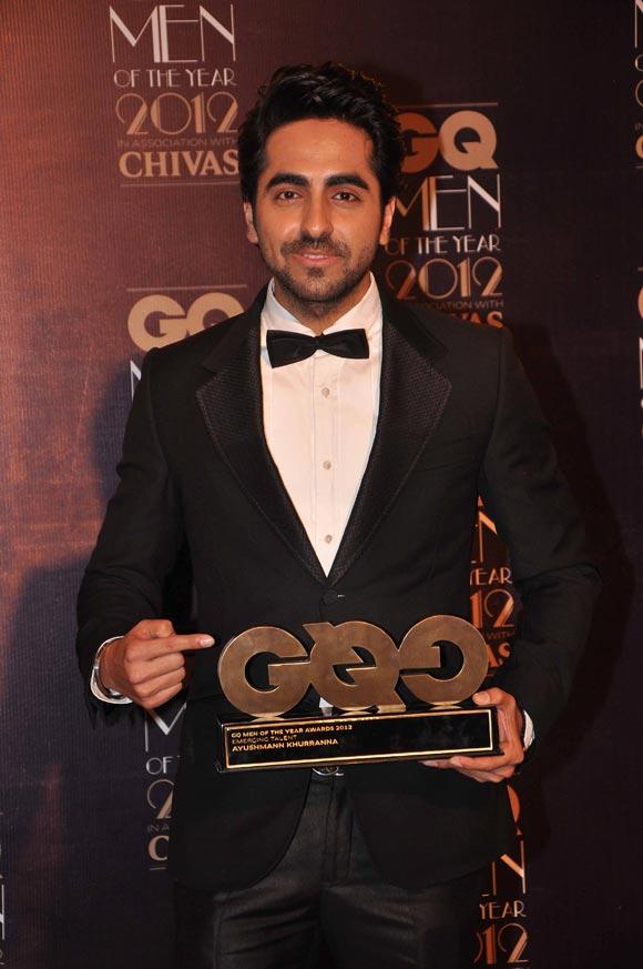 Ayushmann Khurrana at the 2012 GQ awards