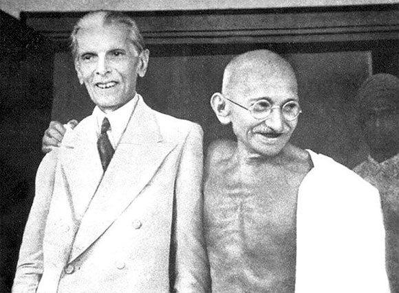 Gandhi and Jinnah in Bombay, September 1944