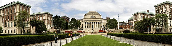 Panorama of Columbia University in New York City