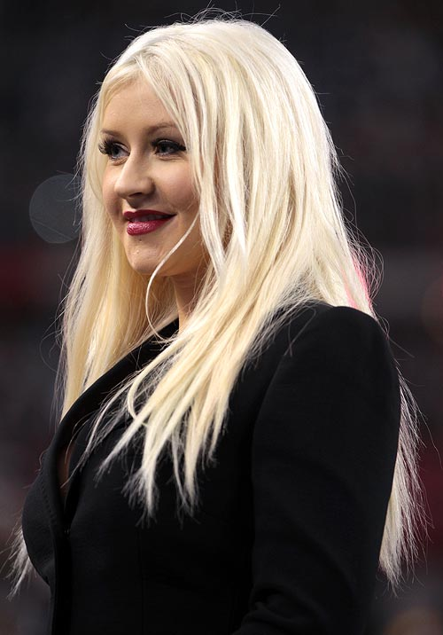 Bleaching your hair often like singer Christina Aguilera is not advisable