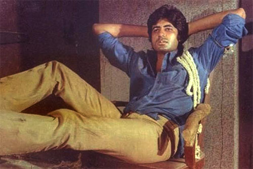Amitabh Bachchan in a still from Deewar