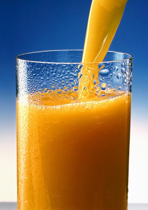 Consume plenty of fluids, like fruit juice
