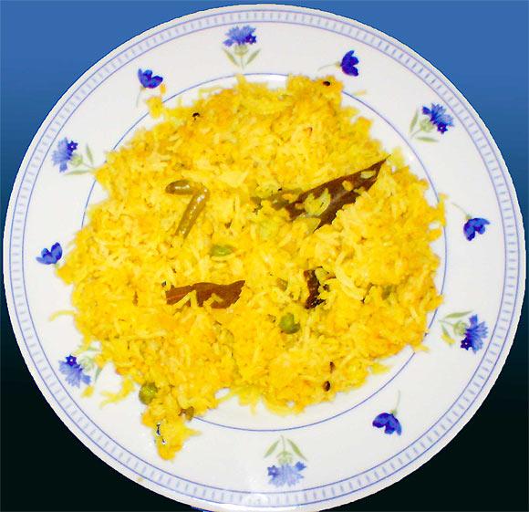 Khichuri (Rice and lentil Bengali casserole)